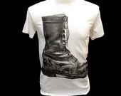 Old Boots Street Pop Art Punk Rock Retro T-Shirt dr martens - Size S,M & L