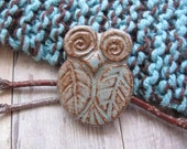 Leafy Owl in Red Clay