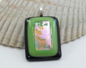 Fused Glass Pendant - Spring Green