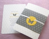 Butterfly Romance Wedding Invitation - Modern Circle Print Sample