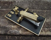 Telegraph Key Brass Stapler