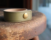Green Leather Cuff