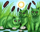 Cattails - 8x10 archival giclee print