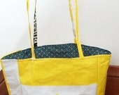 SUMMER re-usable market tote bag--bright yellow