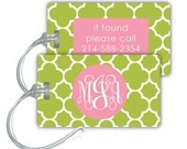 pear clover - luggage tag with custom monogram
