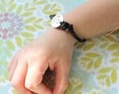 Toddler Leather Charm Bracelet
