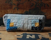 log cabin patchwork zip case no.5