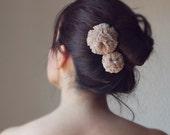 pompom bun hairpins