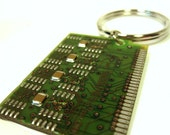 Fern Green Computer Circuit Board Key Ring