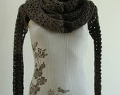 Smell the Coffee - Transformer 4 in 1 - Cowl Hood Sleeves Scarf - Made to order