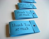 10 Mini Matchbook Notebooks - Thank You so much on blue - party favors, gifts, gift tags - Ready to Ship
