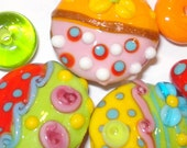 SPRING -- handmade colorful lampwork bead set made by SuuzDesign