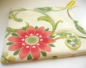 Floral and Dot pot holder or trivet  -square
