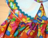 Turquoise Rick Rack Collar Dress