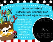 Argh Pirate party birthday invitation