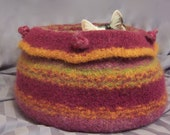 cat bed felted kitty kave made to order