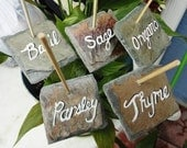 Garden Seed Markers, Choice 5 veggies, herbs,