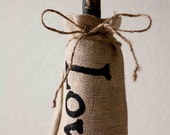 "30 Pack- Burlap Bottle Bags ""love"""