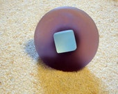 Round Sea Glass Cabinet Knob Drawer Pull