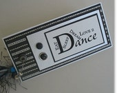 Paper Bookmark: Handmade Bookmarks for Dancers - Love 2 Dance