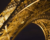 ON SALE Save 33% Golden (8x12) Paris. Eiffel Tower. La Tour Eiffel. Landmark. Fine Art Photograph