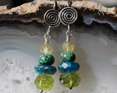 Peridot Stacked earrings