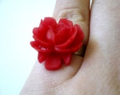 Baby Red Rose Pinky Ring