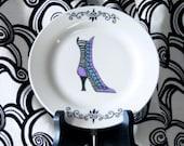 4 Victorian Boot Dessert Plates