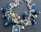 Blue Garden Charm Bracelet