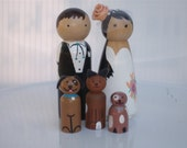 Cake Toppers with Three Pets Fully Customizable---3-D Accents