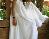 White Cotton Full Swing Nightgown Summer Romance Bridal