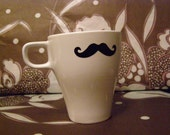 "Mustache Mug Cup ""The Small Handle Bar"""