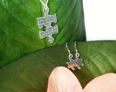 Puzzle Piece Necklace and Earrings