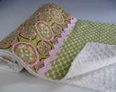 LAST AVAILABLE-- Amy Butler Madison Collection Ultra Soft Minky Blanket  (K)