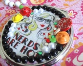 Barbie nerds are hot retro deco compact mirror sale
