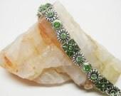 Green Peridot Crystal Slider Bracelet