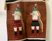 handwoven Navajo rug lovely piece of work