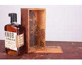 Luxury Gift for Him Screenprinted Reclaimed Wooden Liquor Wine Whiskey Gift Box