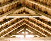 Architecture photo - Rustic Wooden Roof - Country Barn - 8x10 print - item featured on Etsy front page