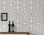 Wall Stencil Vision, reusable stencils for walls instead of wallpaper, great for DIY decor