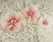 Дамских Коллекция: Ягоды - 3 шт Sheer Цветок Ткань с Перл-центр