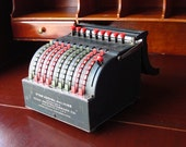 Antique Industrial Adding Machine by Todd Protectograph Co. - TREASURY - go2vintage
