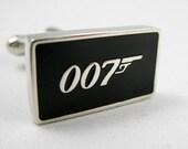 Mens Cufflinks- Copper Fashion Cufflinks, 007 James Bond Design with a Gift Box