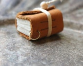Handmade Mini Leather Journal Pendant