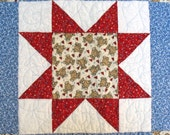 Baby Crib Quilt Patchwork Stars Red White Blue