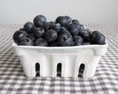 PRE-ORDER: Porcelain Berry Basket with Ice Blue Glaze
