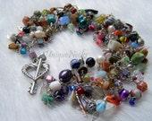 fringe bracelet layered multicolored