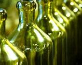 Green Olive Oil Bottles Paris, France - 8x10 Fine Art Photograph