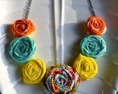 Spring Round the Rosie Necklace