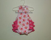 Roses Baby /Toddler Ruffle Bubble Romper